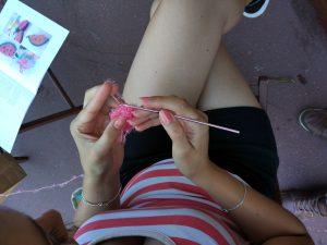 Eponge en crochet