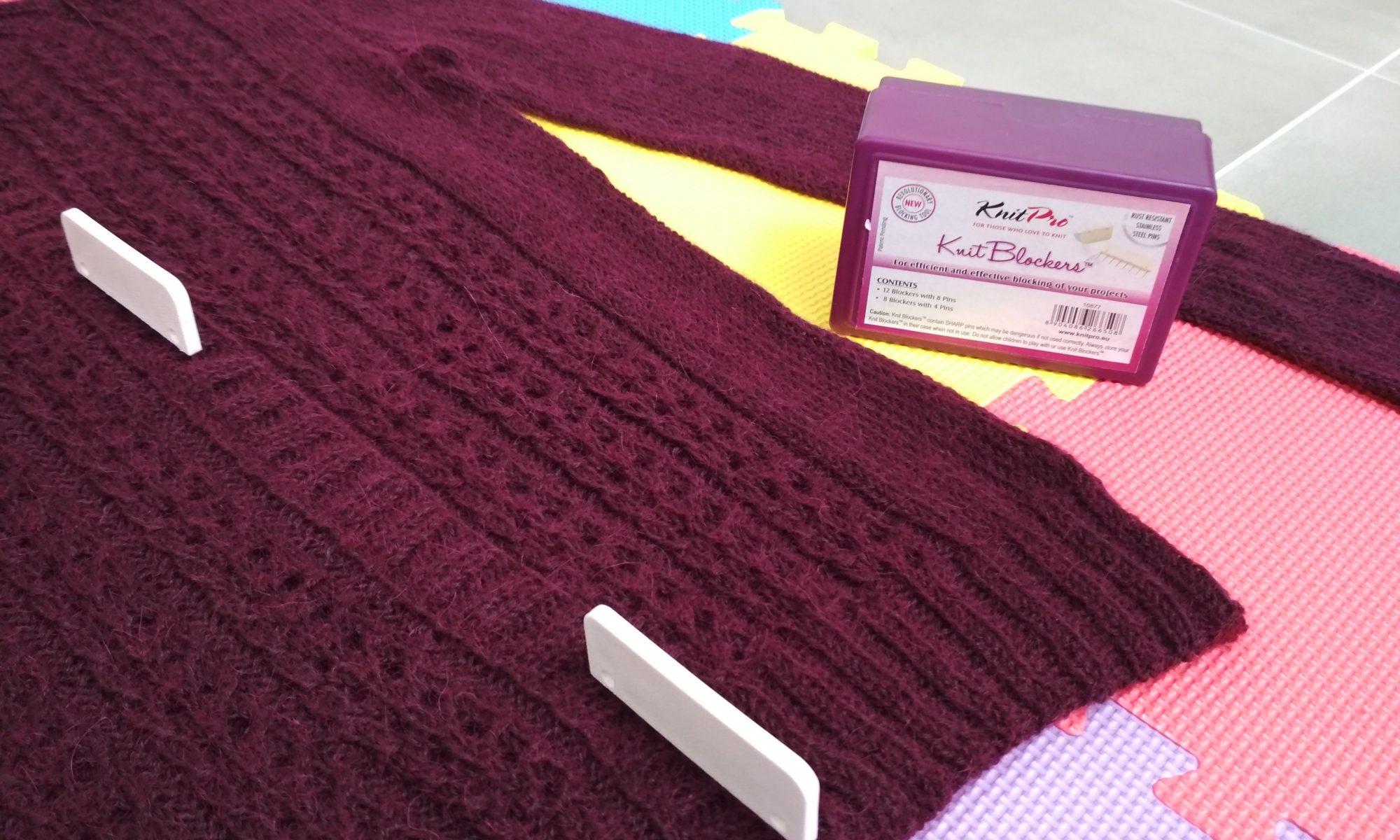 Le blocage du tricot